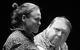 "Спектакль: <b><i>The Old-world Landowners</i></b><br /><span class=""normal"">Явдоха— Julia Polynskaya<br />Афанасий Иванович— Alexander Semchev<br /><i></i><br /><span class=""small"">© Ekaterina Tsvetkova</span></span>"