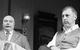 """Спектакль: <b><i>Событие</i></b><br /><span class=""""normal"""">Осип Михеевич Мешаев и Михей Михеевич Мешаев, его брат— Ростислав Лаврентьев<br />Алексей Максимович Трощейкин— Сергей Чонишвили<br /><i></i><br /><span class=""""small"""">© Екатерина Цветкова</span></span>"""