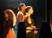"""Спектакль: <b><i>Кураж</i></b><br /><span class=""""normal"""">Катрин, еенемая дочь— Ирина Богданова<br />Повар— Сергей Олексяк<br />Мамаша Кураж— Дарья Белоусова<br /><i>Световой прогон</i><br /><span class=""""small"""">© Ирина Параскевова</span></span>"""