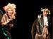 """Спектакль: <b><i>Кураж</i></b><br /><span class=""""normal"""">Иветта Потье— Ольга Левитина<br />Старый полковник— Геннадий Храпунков<br /><i>Премьера</i><br /><span class=""""small"""">© Евгений Люлюкин</span></span>"""