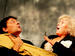 """Спектакль: <b><i>Моя тень</i></b><br /><span class=""""normal"""">Тень-Учёный, Учёный-Тень— Евгений Редько<br />Принцесса— Ольга Левитина<br /><i>Репетиция</i><br /><span class=""""small"""">© Дмитрий Хованский</span></span>"""