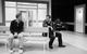 """Спектакль: <b><i>Весы</i></b><br /><span class=""""normal"""">Алексей— Артём Быстров<br />Эдуард— Артём Волобуев<br />Игорь— Игорь Золотовицкий<br /><i></i><br /><span class=""""small"""">© Екатерина Цветкова</span></span>"""