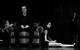 """Спектакль: <b><i>Человек изрыбы</i></b><br /><span class=""""normal"""">Юлька— Елизавета Янковская<br />Гриша (Дробужинский)— Артём Быстров<br />Лиза— Надежда Калеганова<br />Салманова— Лаура Пицхелаури<br /><i></i><br /><span class=""""small"""">© Екатерина Цветкова</span></span>"""